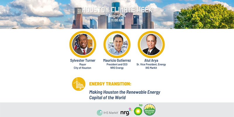 Houston Climate Week Kickoff Graphic