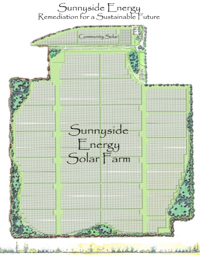 Sunnyside Solar Landfill Project Graphic